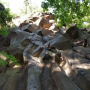 These intriguing basalt columns offer all kinds of challenging shapes, and you can see how steep it can get