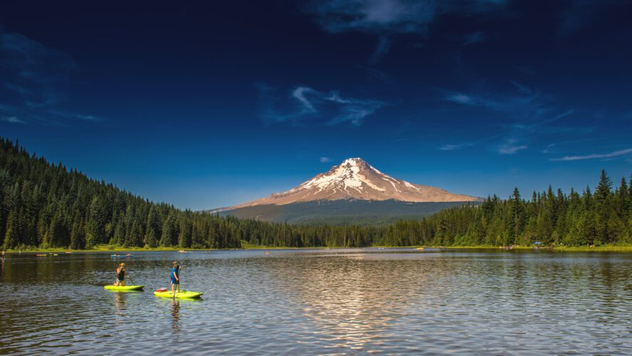 Trillium Lake is a summertime destination, so pack your rafts and swim trunks for your rest days