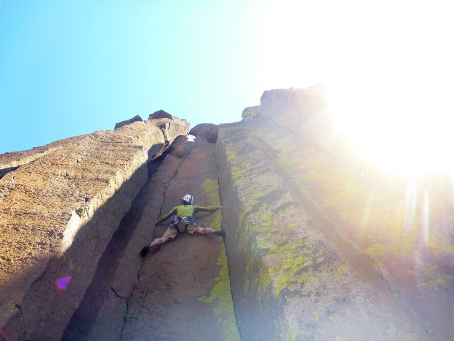 The expansive basalt columns, and the negative space where they once stood, force you to engage your full body to climb