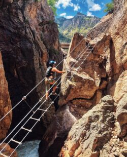 Head to the San Juan Mountains for a day of engaging climbs along the cliffs of the panoramic Uncompahgre Gorge