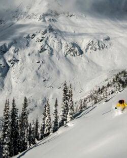 Backcountry skiing in Revelstoke