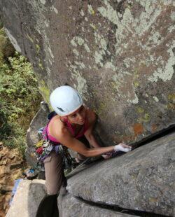 Women's rock climbing in Aculco de Espinoza, Mexico.